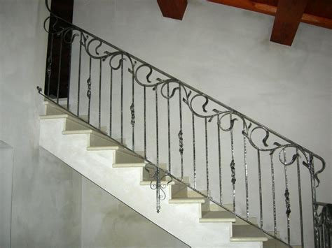 Handrails For Stairs Interior by Wrought Iron Stair Railings Interior Ideas Metal Handrails