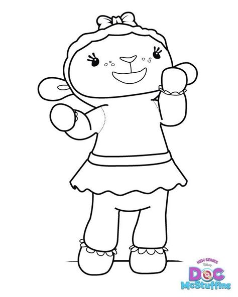 doc mcstuffins lambie coloring pages birthday ideas for