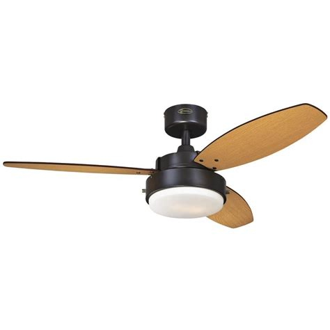 ceiling fan westinghouse lighting 42 quot alloy 3 reversible blade ceiling