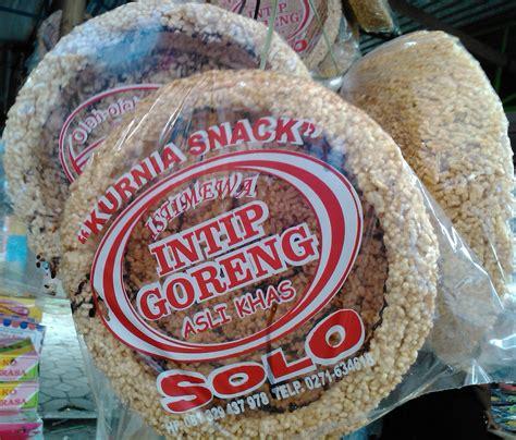 agen makanan solo  intip goreng