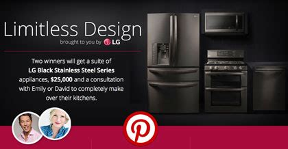 Hgtv Pro Sweepstakes - win a suite of lg black stainless steel appliances plus 25 000 cash go sling