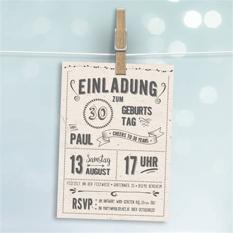 Postkarte Einladung Drucken by Retro Einladung Zum Geburtstag Hell Postkarte Gedruckt