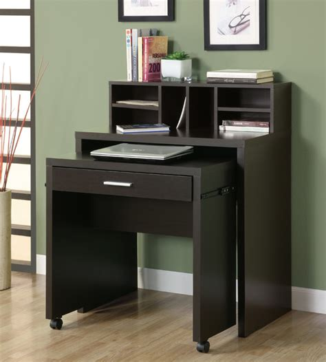 Computer Storage Desk Space Saver Computer Desk Cappuccino Hollow Open Storage Computer Desk Modern Desks