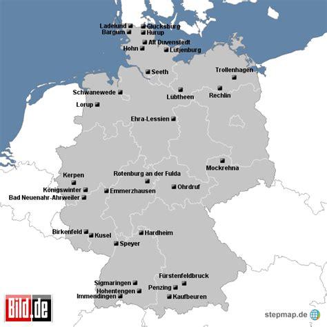 Deutsches Büro Grüne Karte Formular by Schlie 223 Ung Bundeswehr Standorte Bild De Landkarte