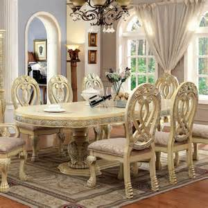 Antique White Dining Room Table wyndmere royal presence antique white finish formal dining