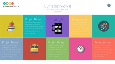 marketing slide pitch deck powerpoint template by