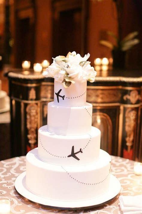 Hochzeitstorte Reisen wedding wanderlust 21 top travel theme wedding ideas