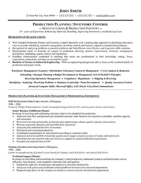 Production Controller Sle Resume by 78 Best Images About Operations Resume Templates Sles On Business Operations A