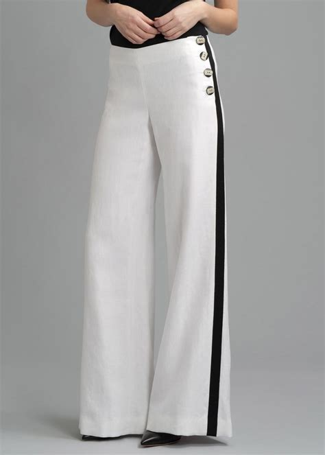 pant leg style lafayette 148 lavish linen wide leg pant with grosgrain