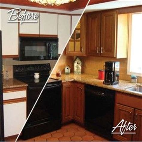 how to reface laminate kitchen cabinets fha standard before after resurfacing cabinets for the