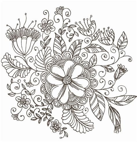 flower pattern to draw line drawing swirl flower pattern vector graphic free