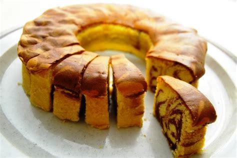 cara membuat kue zebra panggang resep marmer cake lezat resep cake lezat