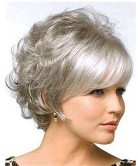 903 best gray and silver hairstyles images on pinterest beautiful women curly hair short wig gray cosplay women