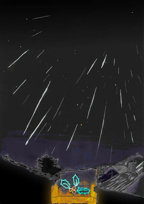 December Meteor Shower by Geminid S Astronomy Sketch Of The Day