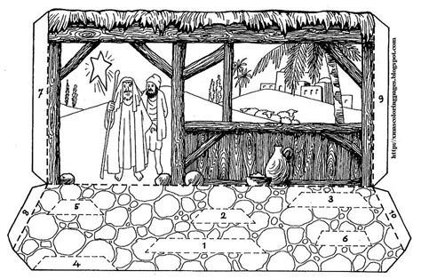nativity diorama coloring pages xmas coloring pages