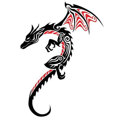 tribal tattoo dragon vector illustration 37 tribal dragons for sticker design inspiration uprinting