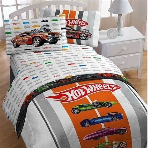 hot wheels bedding hot wheels full bed sheet set from mattel to logan love