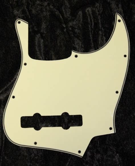 Diskon Pickguard Jazz Bass S 1ply White fender 5 string standard active jazz bass v mim pickguard 3 ply mint ebay