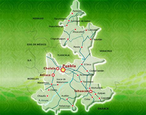 mapa de puebla mexico mapa de puebla