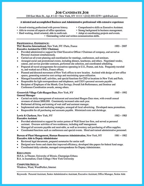 administrative assistant resume objectives sle to make administrative assistant resume
