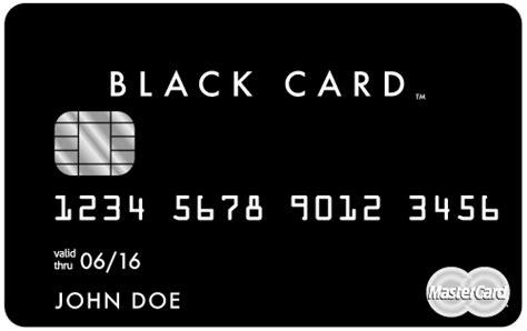 Black Card Invitation Mastercard