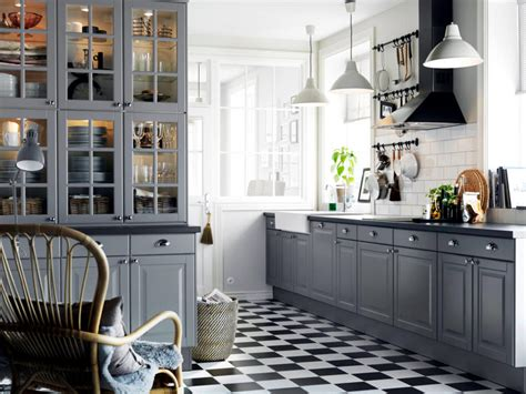 Country Themed Kitchen Ideas grey mounted in a country style kitchen interior design