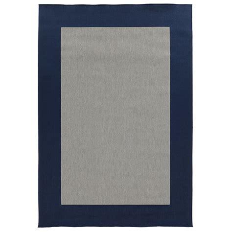 blue border rug shop garden treasures salem rectangular blue with gray border indoor outdoor area rug common 6
