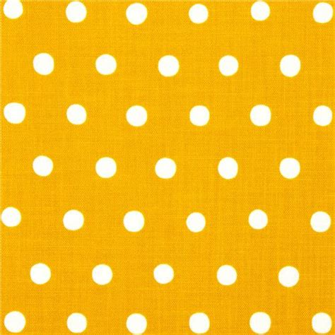 Canvas Laminating Polka Sedang mustard echino laminate canvas fabric with white polka dots laminates fabric kawaii shop