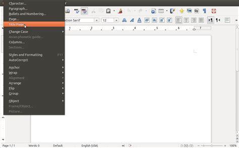 format html ubuntu ubuntu no page number in first page toontricks