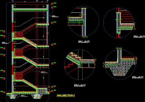 details stairs dwg section  autocad designs cad