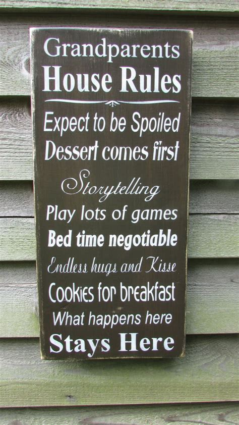 home decor rules country home decor family rules sign wood signs
