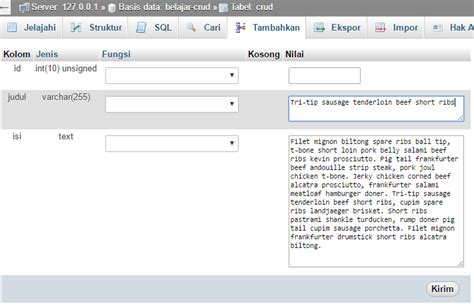 tutorial crud dengan laravel contoh database yg sudah jadi wo ternyata