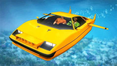 world s first submarine car gta 5 dlc youtube