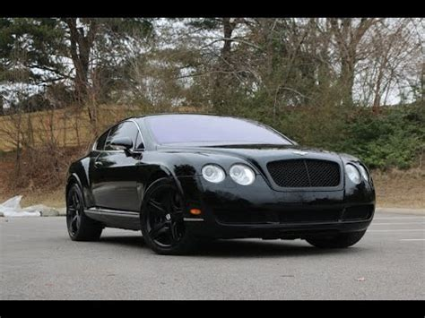 bentley limo black bentley continental blacked out review walk around 2005