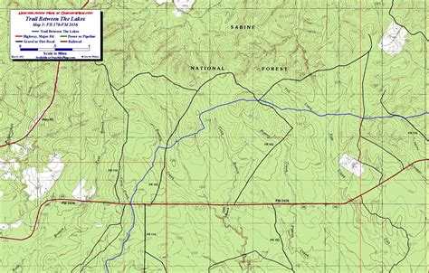 texas national forest map trail between the lakes sabine national forest texas free detailed topo map