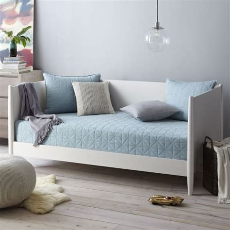 west elm day bed mid century daybed white west elm
