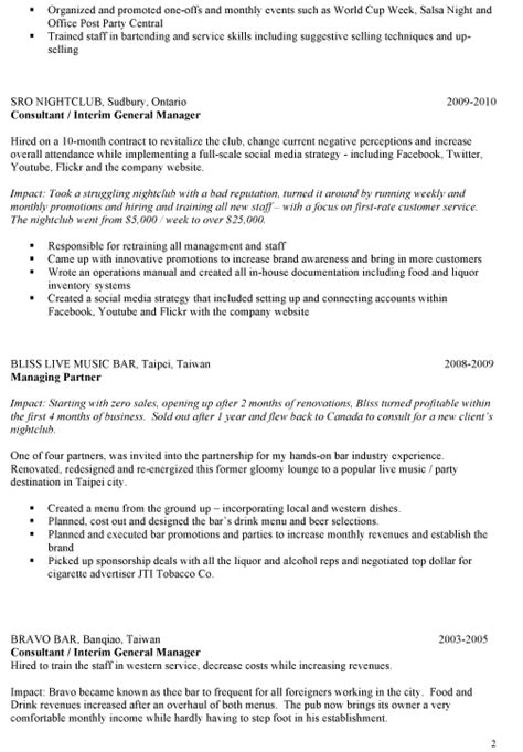 sle bar manager resume ideas on writing your own