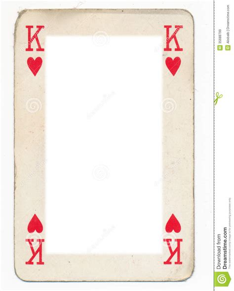 frame from old king of heart playing card royalty free