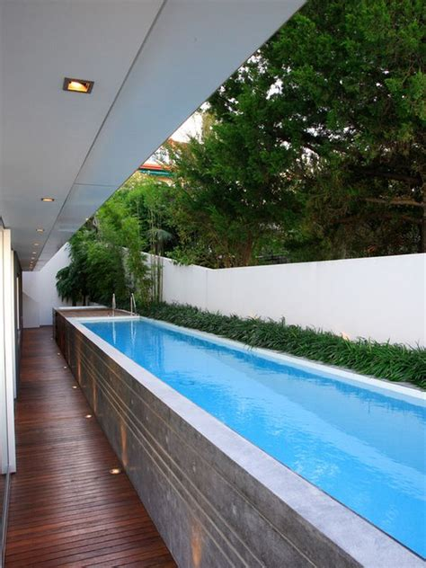 lap pool designs unusual outdoor swimming pool designs