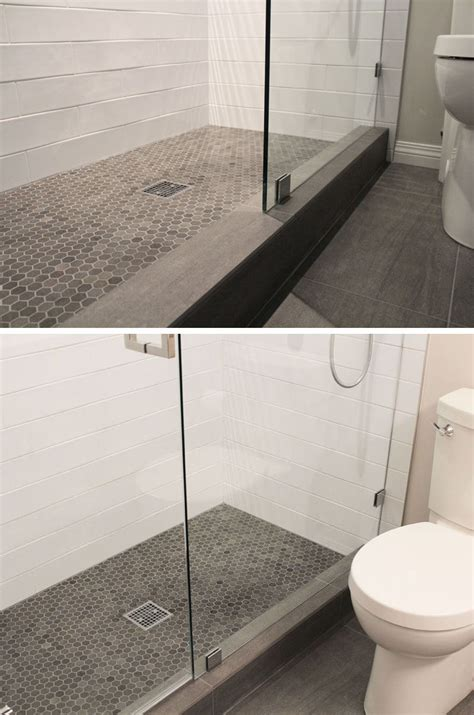 grey tile bathroom ideas bathroom tile ideas grey hexagon tiles contemporist