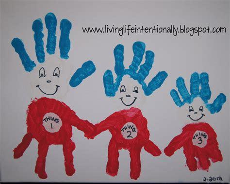 handprint crafts thing 1 2 3 handprint family crafts
