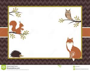 free cardstock templates woodland card stock vector image 59133917