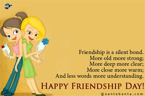 day sms for friends friendship day sms