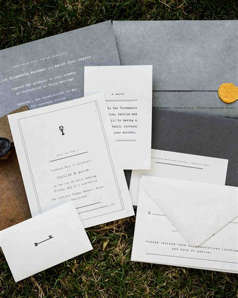 74 modern wedding invitations martha stewart weddings