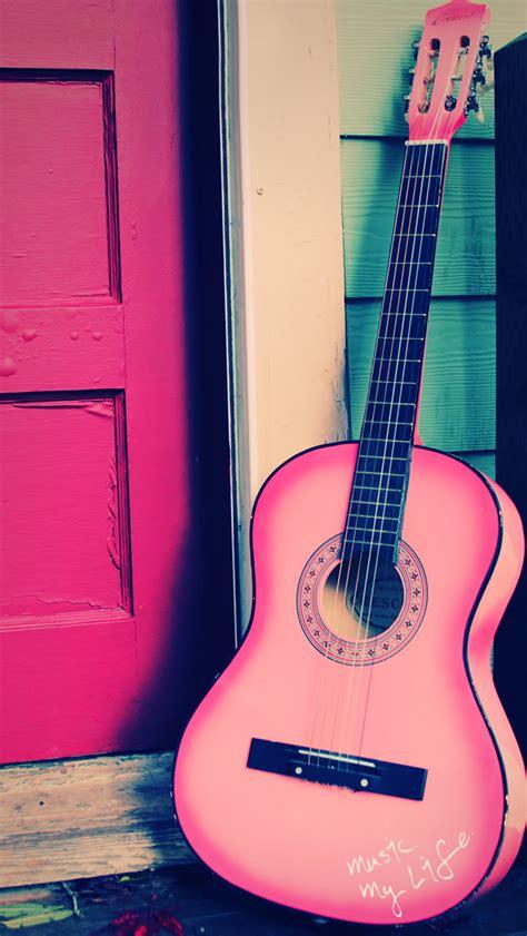 girly guitar wallpaper iphone 5s wallpapers pink guitar