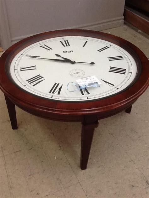 Clock Coffee Table Clock Coffee Table From The Millionaire S 197 40 Consignment Inventory