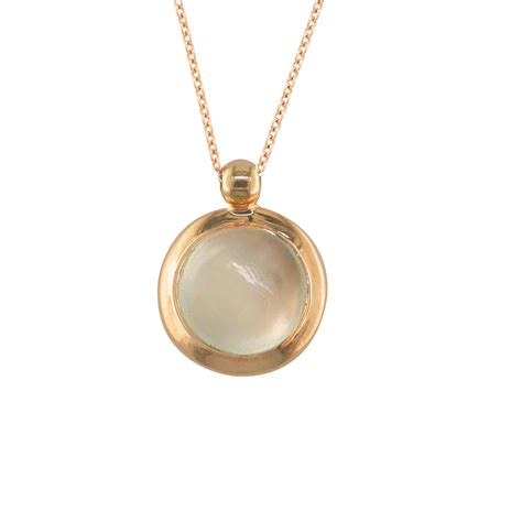 exclusive gold moonstone pendant necklace