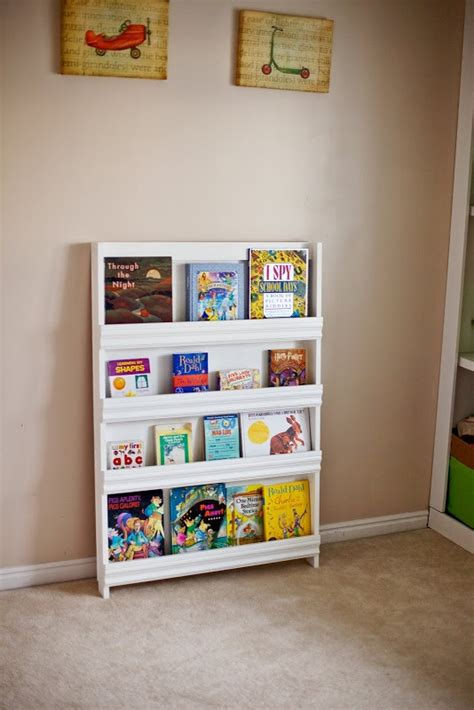 picture book display white book display shelf home playroom