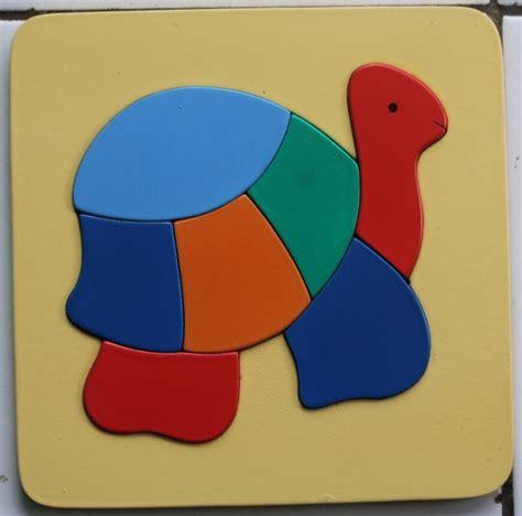 Mainan Kura Kura puzzle cat 17x17 cm kura kura mainan kayu