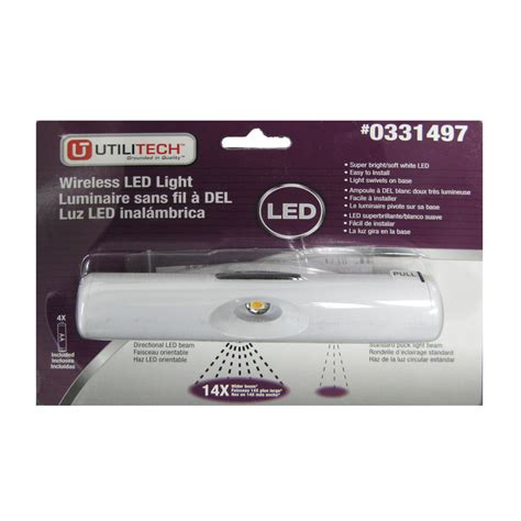 battery powered under cabinet lighting lowes shop utilitech 6 in battery under cabinet led light bar at